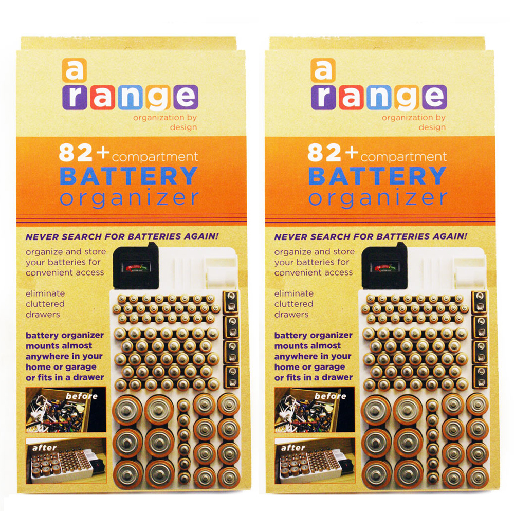 Range Kleen 2X Battery Storage Rack Holder Tester Case Bo...
