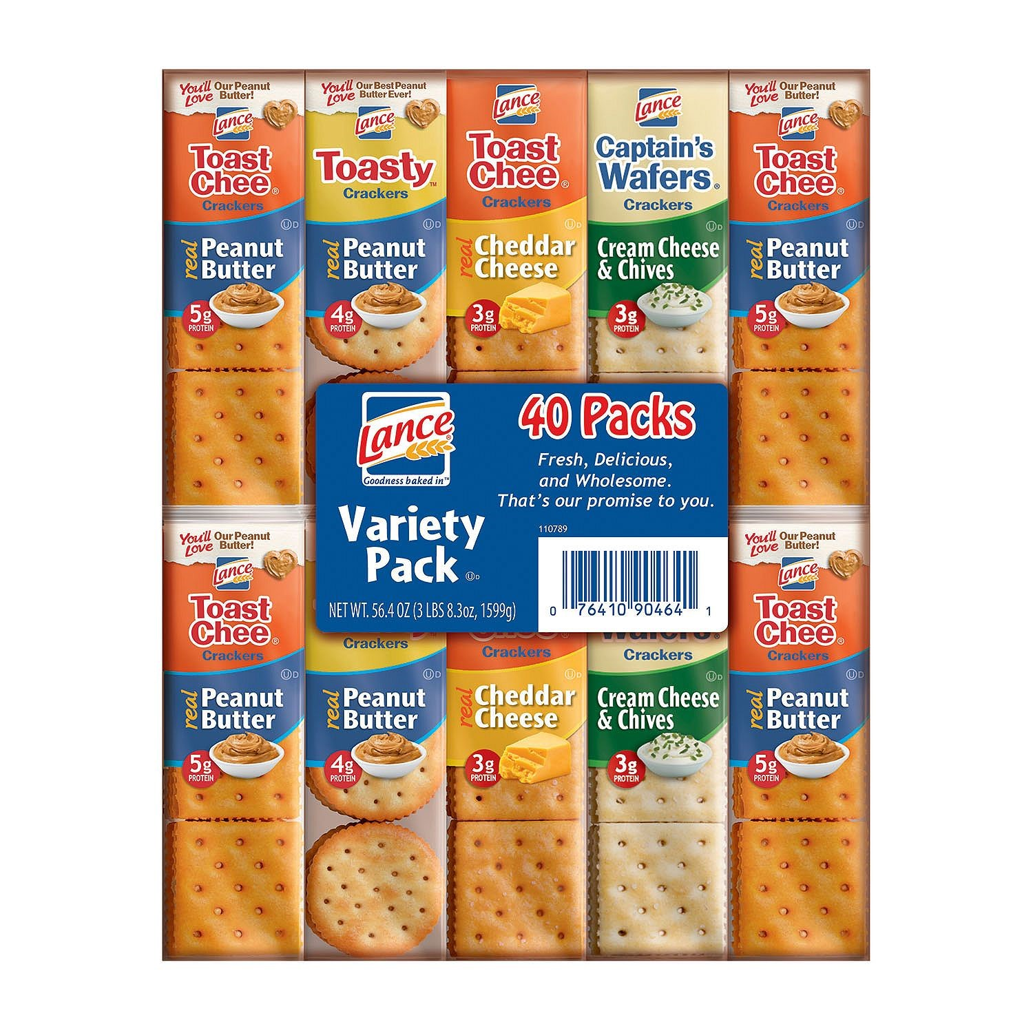 Lance Sandwich Cracker Variety Pack, 40 Ct