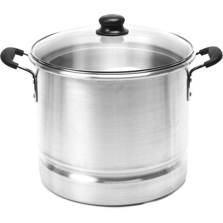 Imusa 28 Quart Steamer With Glass Lid  Aluminum