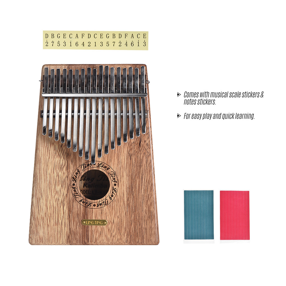 17-key Kalimba Thumb Piano Mbira Sanza Swartizia Spp Solid Wood with Carry Bag Music Book Stickers Tuning Hammer Musical Gift