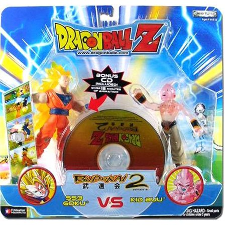 Dragon Ball Budokai Battles SS3 Goku vs. Kid Buu Action Figure (Goku Vs Majin Buu Final Battle Full Fight)