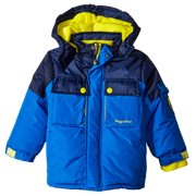 Rugged Bear Little Boys' Solid Heavyweight Colorblock Ski Jacket