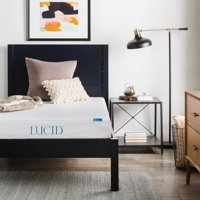 "Lucid 6"" Dual Layered Memory Foam Mattress, Multiple Sizes"