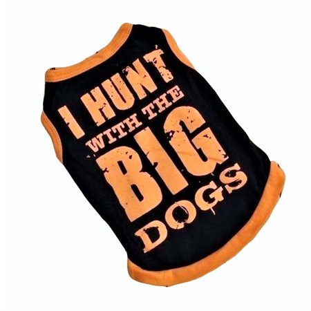 Pet Dog Camo Tank Top (For SMALL Pet Cat Dog Shirt Tank Sleeveless I HUNT WITH BIG DOGS sz XS (length -7