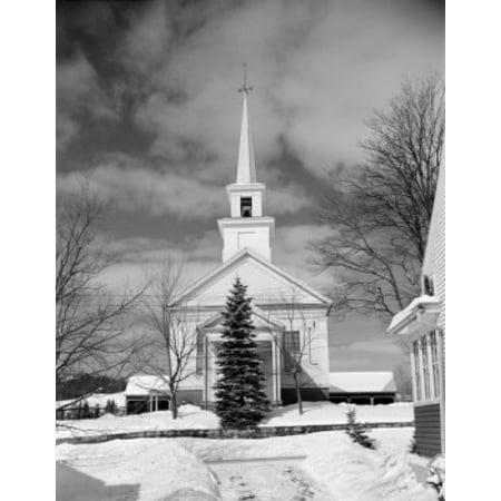 USA New York City Long Island Church in winter Canvas Art -  (24 x 36) for $<!---->