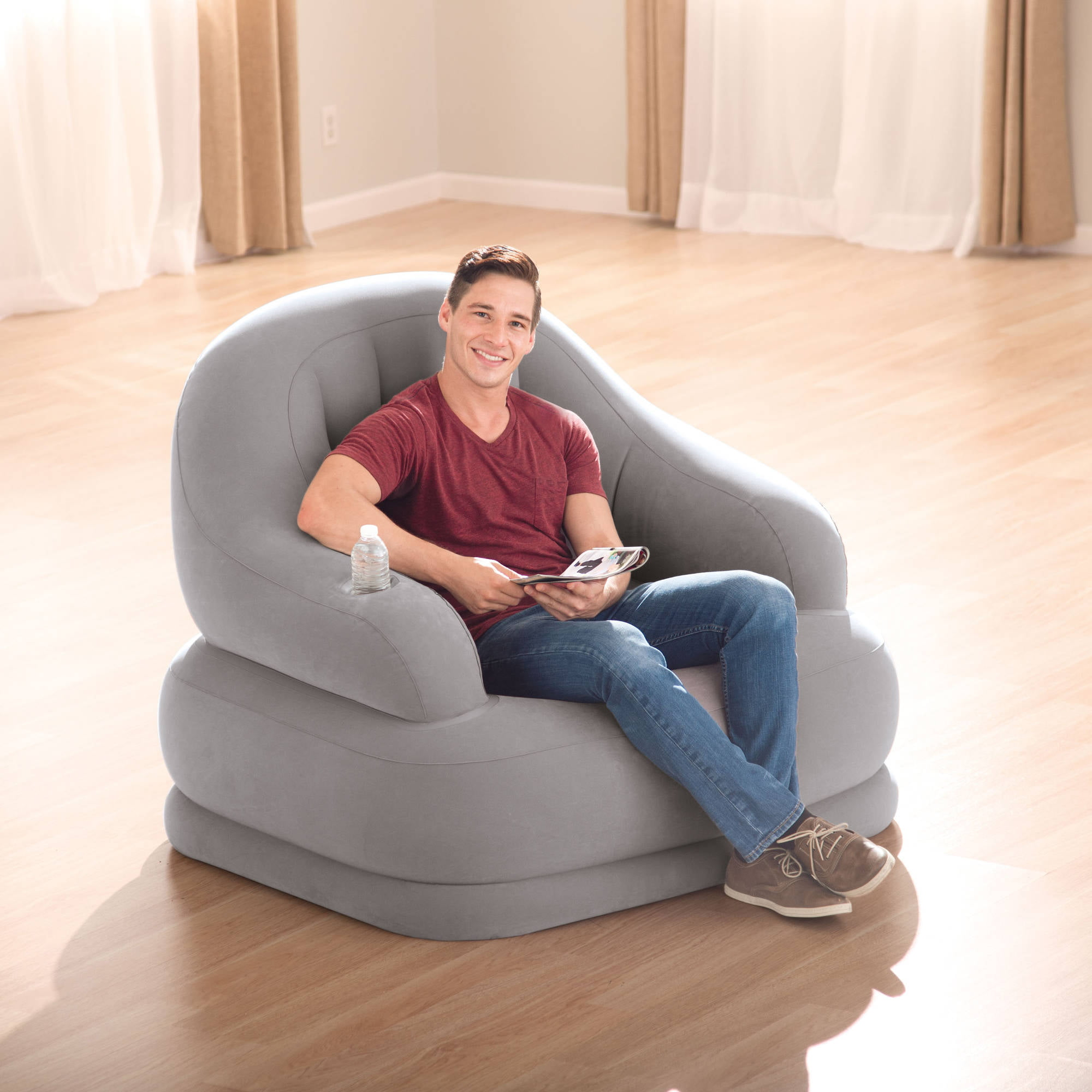 Intex Inflatable Chair Grey