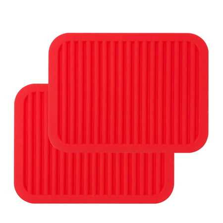Wrapables Silicone Pot Holders, Multi-use Durable Flexible Non-Slip Insulated Silicone Trivet (Set of 2), (Silicon Pot Holders)