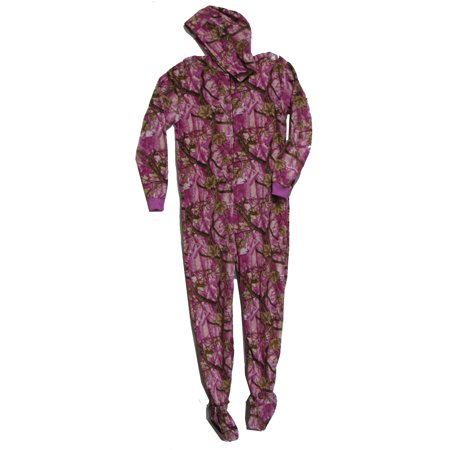 Fun Boxer - Pajama Fun Prints Hooded Footed One Piece Pajamas- Pink Forest  Real - Walmart.com 115a18485