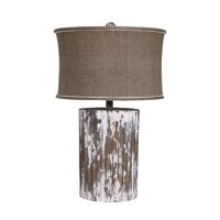 ELK Home Wood Cylinder 1-Light Table Lamp - 350040