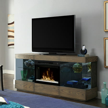 Dimplex Axel Media Console Electric Fireplace With Glass Ember Bed for TVs up to 70