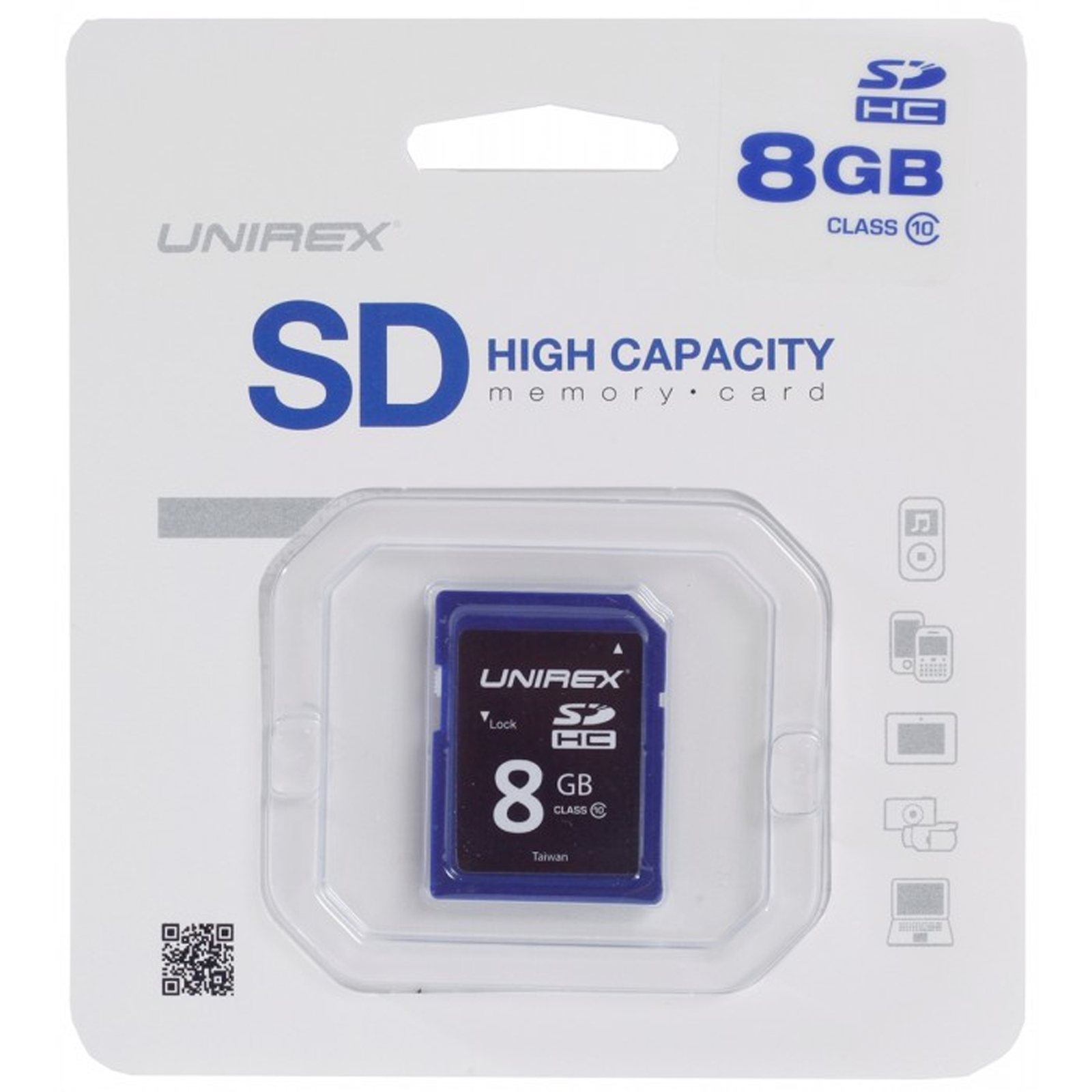 Unirex SD High Capacity Card 8GB Class 4