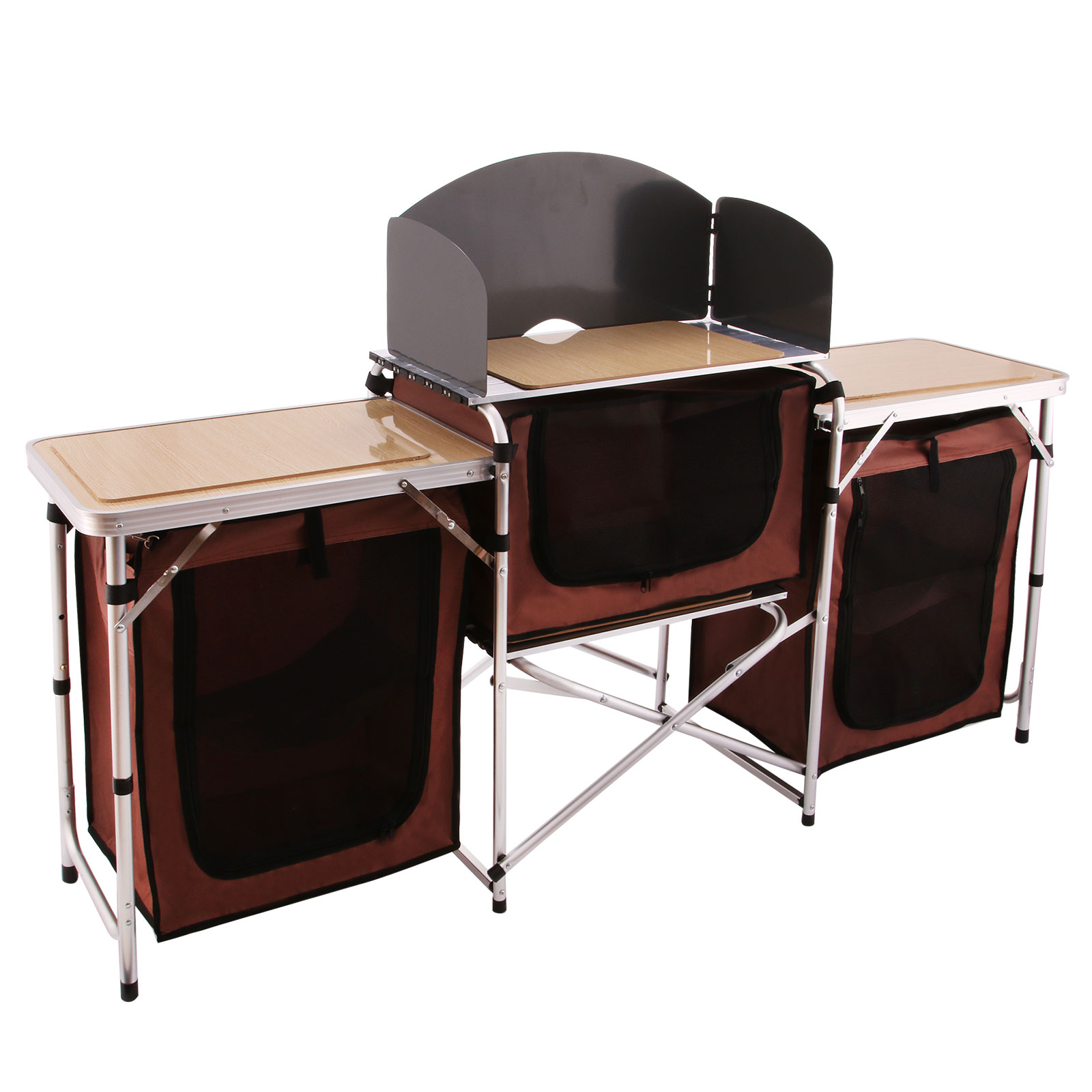 VEVOR Camping Kitchen Table Aluminum Alloy Fold Cooking S...