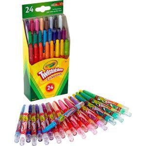 Sparkle Crayons (Crayola Twistables Crayons, 24 Count)