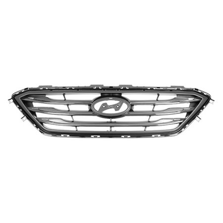 Cpp Gray Grill Embly For 2017 Hyundai Sonata Grille