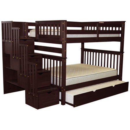 Stairway Bunk Beds Full Over Full Drawers Steps Full