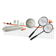 Triumph Volleyball/Badminton Classic Combo Set Includes 2 Badminton Rackets, 2 Shuttlecocks, Volleyball, and Net