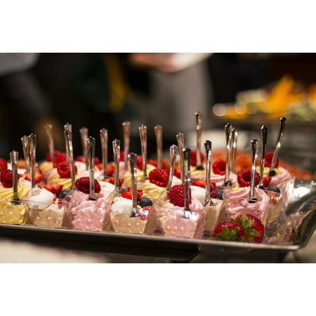 Canvas Print Healthy Fresh Gourmet Celebration Raspberries Food Stretched Canvas 10 x 14 (Gourmet Raspberry)