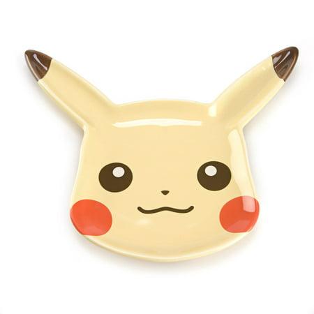 Pokemon Life Enjoy Eating Pikachu Face Yellow - Pokemon Plates