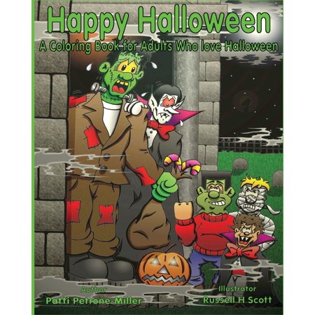 Happy Halloween a Coloring Book for Adults Who Love Halloween (Paperback) - Happy Halloween Lover