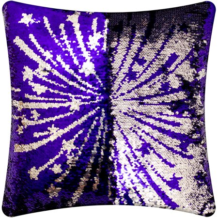 Mainstays Reversible Sequin Fireworks Red To Blue Decorative Pillow Fascinating Red And Blue Decorative Pillows