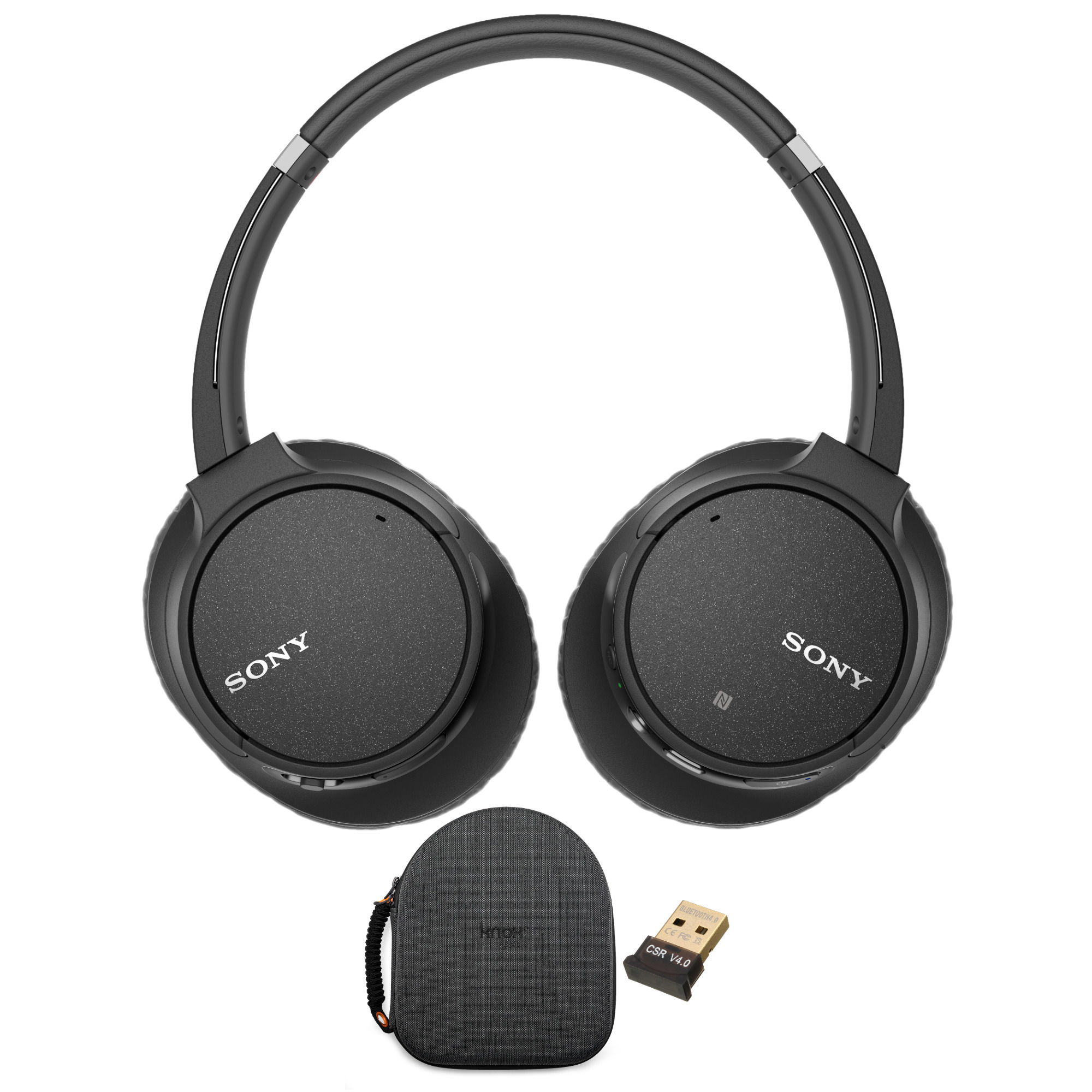 Sony WH-CH700N Wireless Noise Canceling Headphones (Black) with Case Bundle