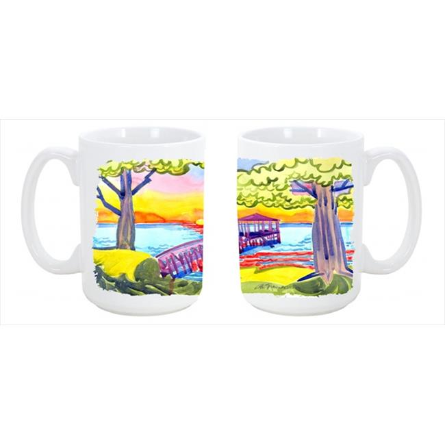 Dock at the pier Dishwasher Safe Microwavable Ceramic Coffee Mug 15 oz. - image 1 of 1
