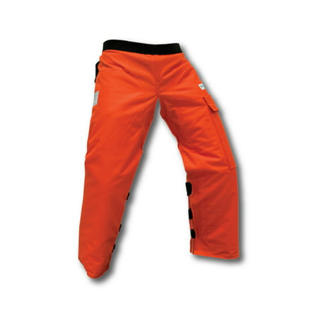 Pocket Saw - Forester Apron Style Chainsaw Chap Orange. Part Number CHAP437-O. Adjustable Waist. Length 37 Inch.