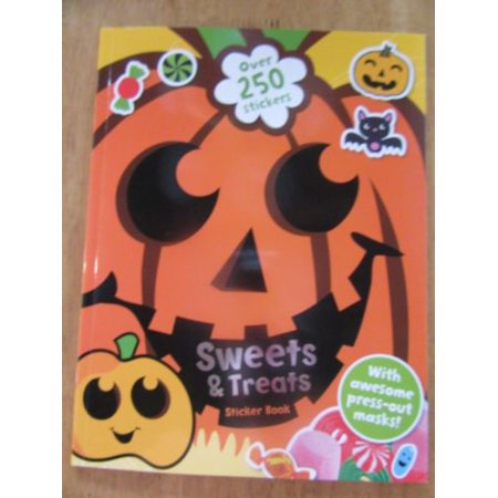 Sweets & Treats Sticker Book NEW 250+ Stickers Press-out Masks Halloween - Halloween Sweets And Treats Ideas