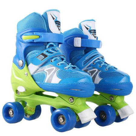 Unisex PP and PVC Wheel Indoor Outdoor Roller Children Tracer inland Skate Adjustable Double Row Skate HITC