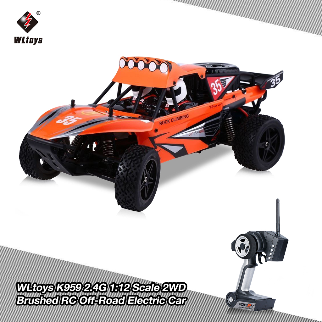 WLtoys K959 2.4G RC Car Off-Road 40km/h Rechargeable Elec...