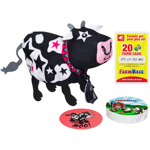 Farmville Animal Old Maid Game Rockstar Cow Pouch