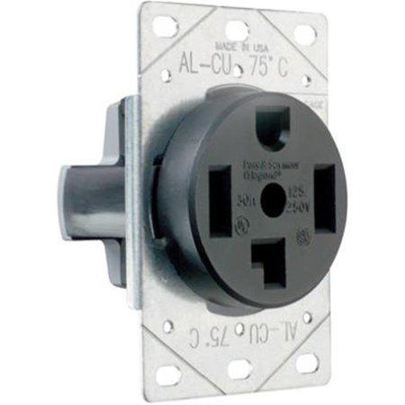 Flush Outlet - Pass & Seymour 3864CC6 Flush Outlet 30A 125/250V 4W
