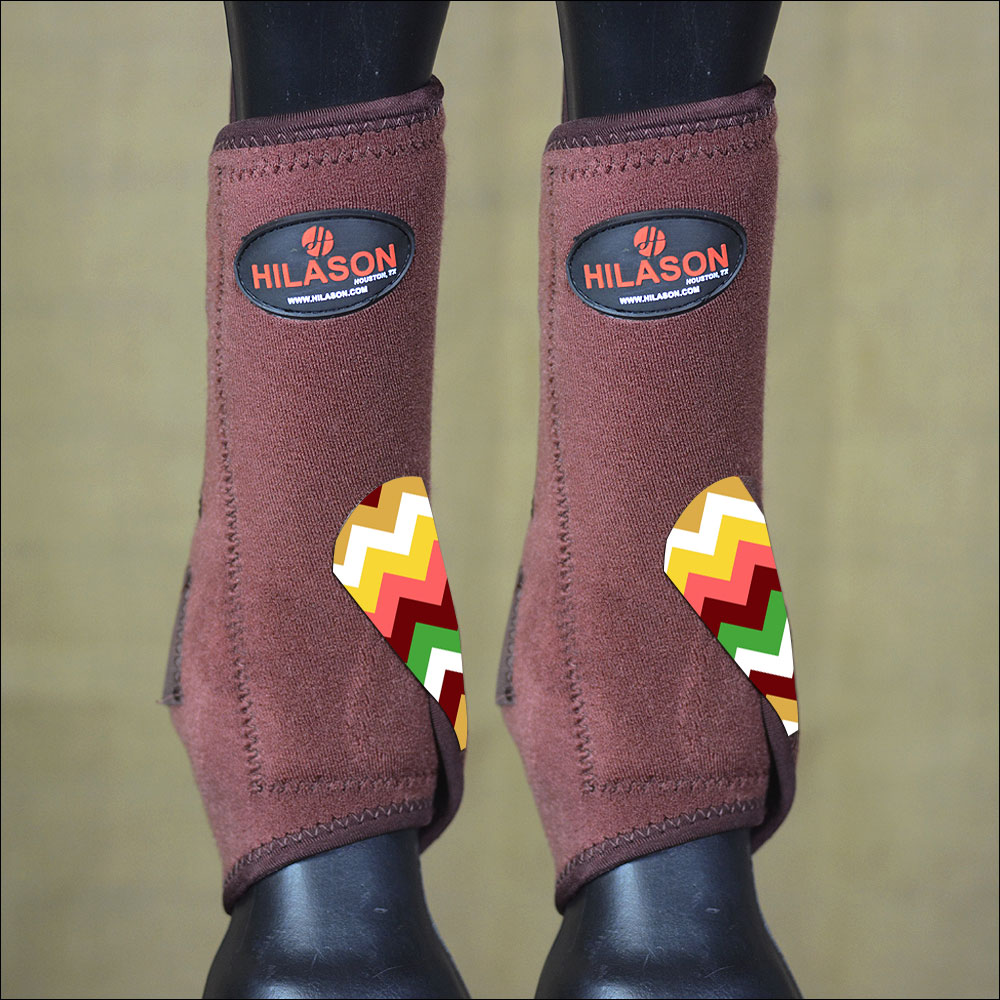 LRG HILASON HORSE FRONT LEG PROTECTION ULTIMATE SPORTS BOOTS BROWN AZTEC