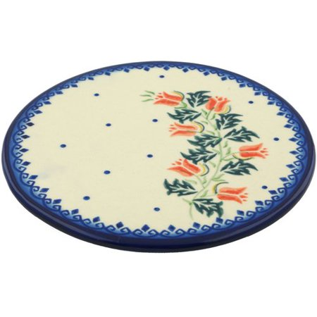 Polmedia California Poppies Polish Pottery Cutting Board