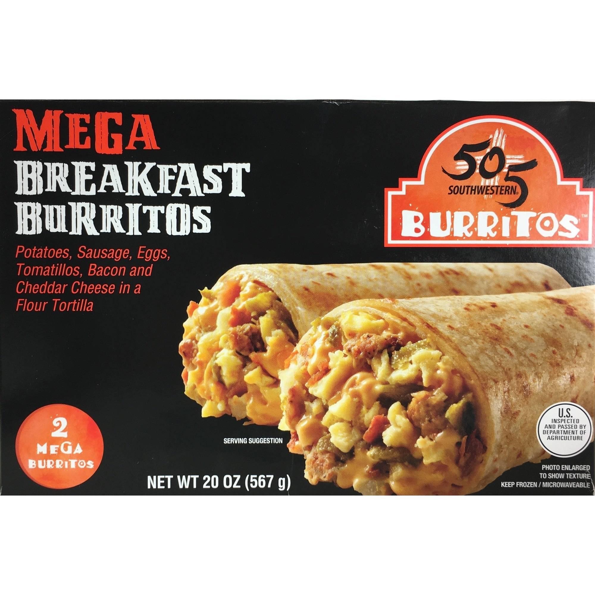 505 Southwestern Mega Breakfast Burritos, 2 count, 20 oz