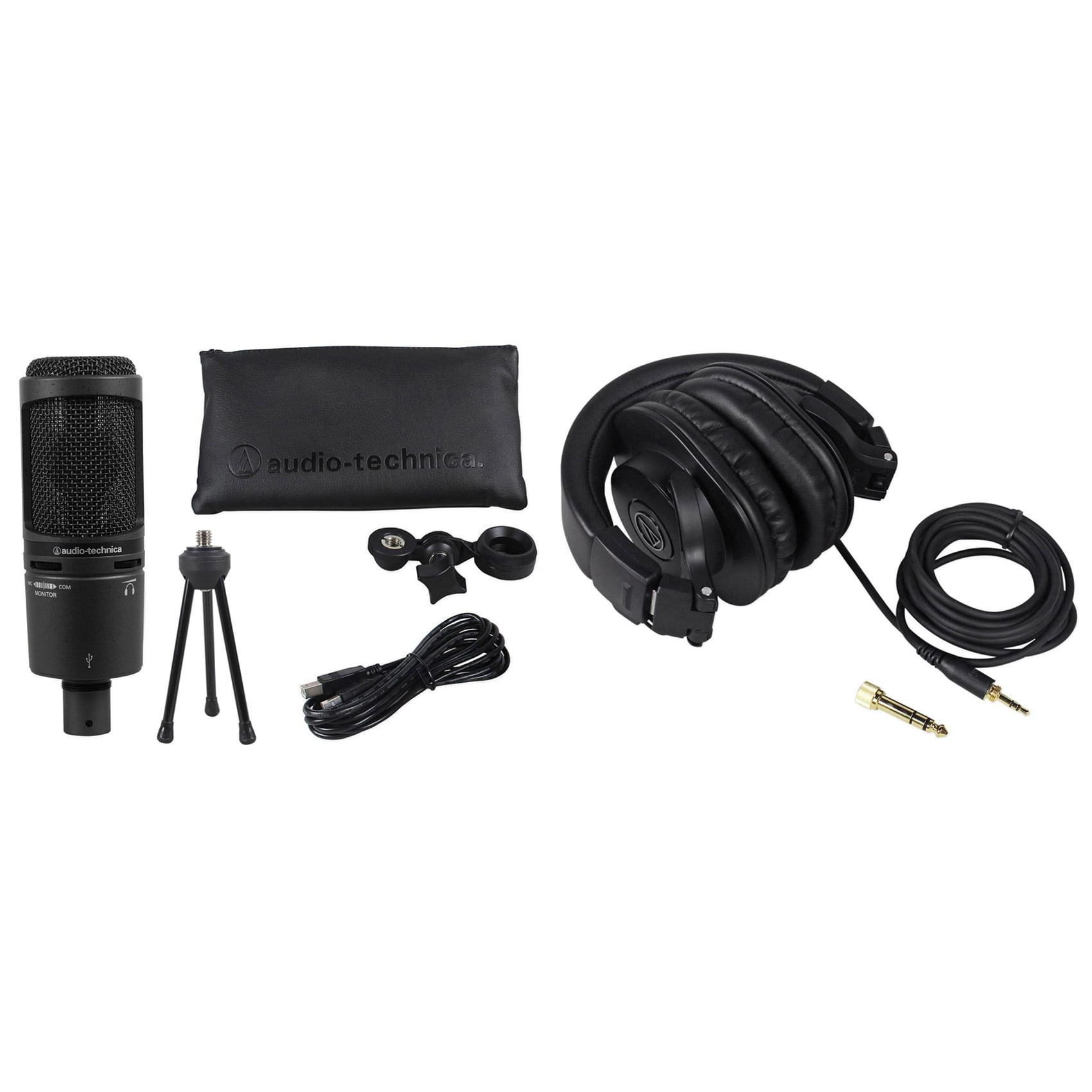 Audio-Technica AT2020USB+PLUS USB Recording Mic+Stand+Cas...
