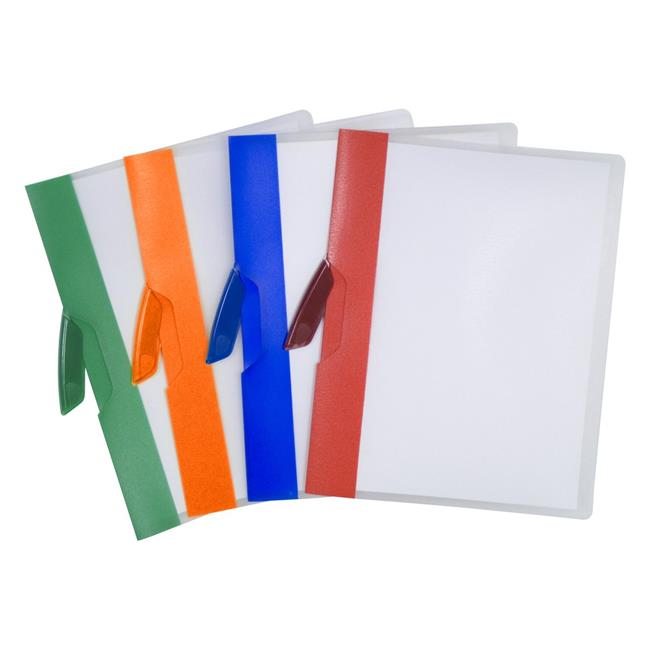 Storex 51261B14C Swing Clip Report Cover, Assorted Color - Pack of 14