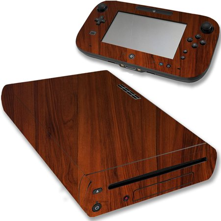 Wwii Wood - VWAQ Wii U Wood Skins Nintendo Wii U Console Woodgrain Skin Decal VWAQ-WGC4 [video game]