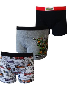Teenage Mutant Ninja Turtles Boys Underwear, 3 Pack Boxer Briefs (Little Boys & Big Boys)