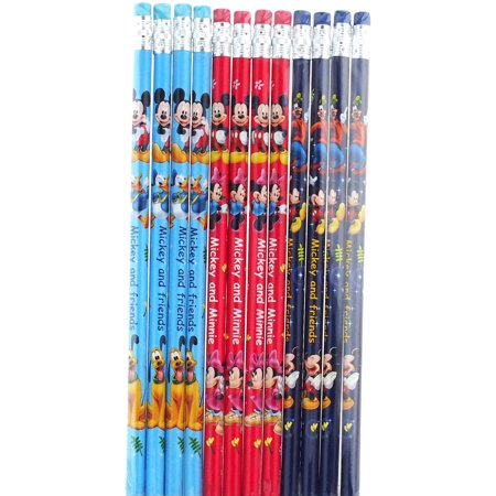 Disney Mickey Mouse and Friends Character 12 Wood Pencils Pack