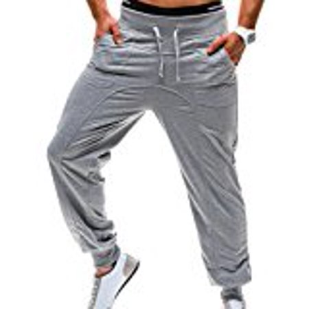 Young Horse Men Running Trouserss Casual Long Pants With Elastic Waistband Color:Grey
