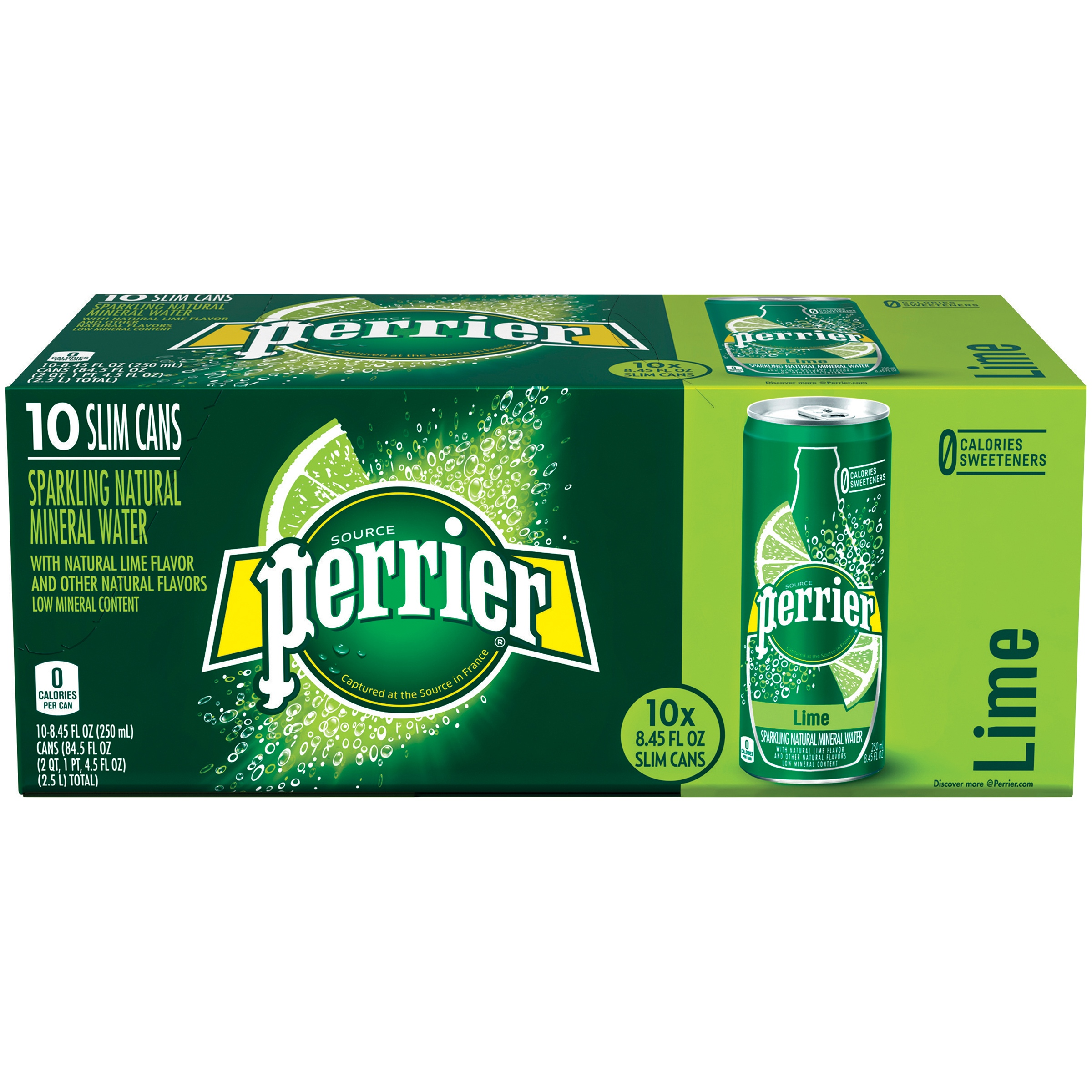 Perrier Lime Sparkling Natural Mineral Water, 8.45 Fl. Oz., 10 Count