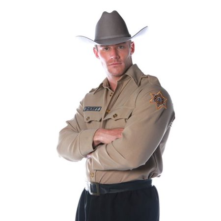 Sheriff Shirt Men's Adult Halloween Costume - One Size up to 44](Sherrif Costume)