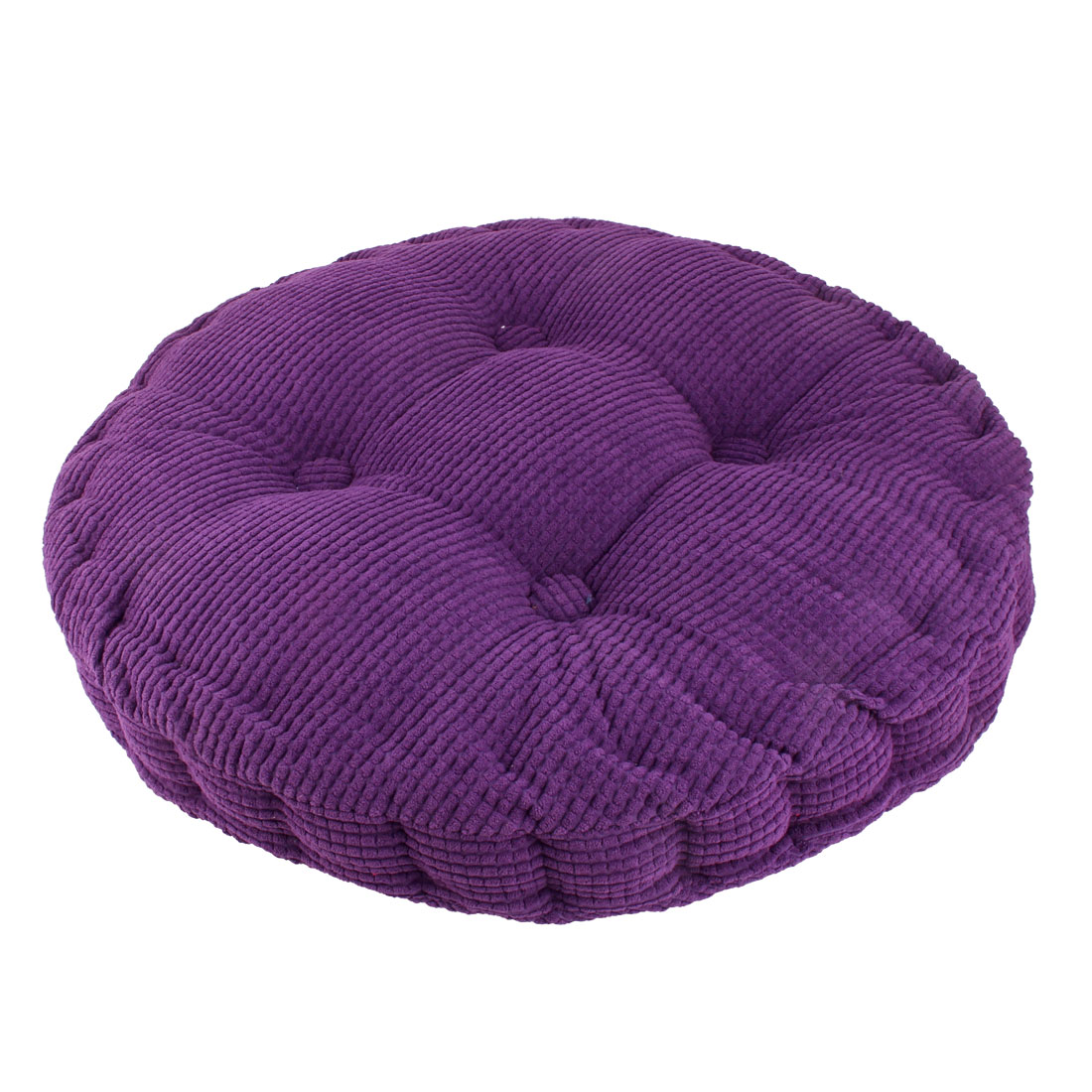 Home Office Corduroy Round Shaped Sofa Floor Chair Seat Cushion Pad Blue - image 1 of 4