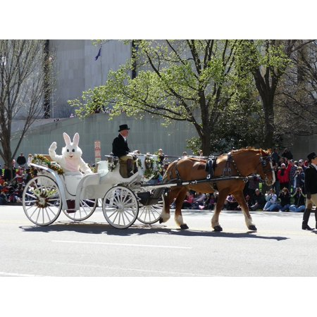 Parade Bunny - Canvas Print Parade Horse Easter Bunny Carriage Stretched Canvas 10 x 14
