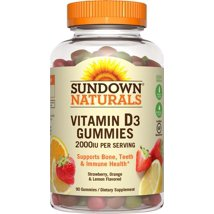 Vitamins & Supplements: Sundown Naturals Vitamin D Gummies