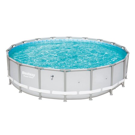 Bestway Power Steel 18 x 4 Foot Round Above Ground Swimming Pool Frame, -