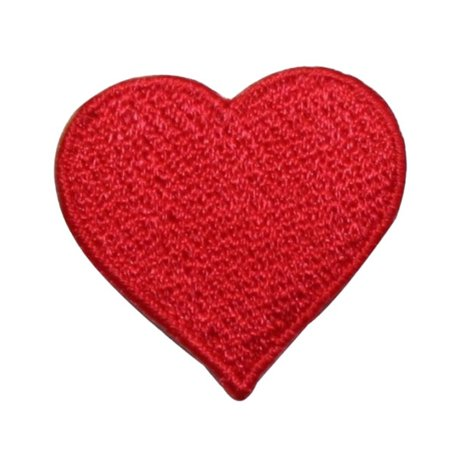 ID 3388 Red Heart Symbol Patch Valentines Day Love Embroidered Iron On Applique - Embroidered Hearts