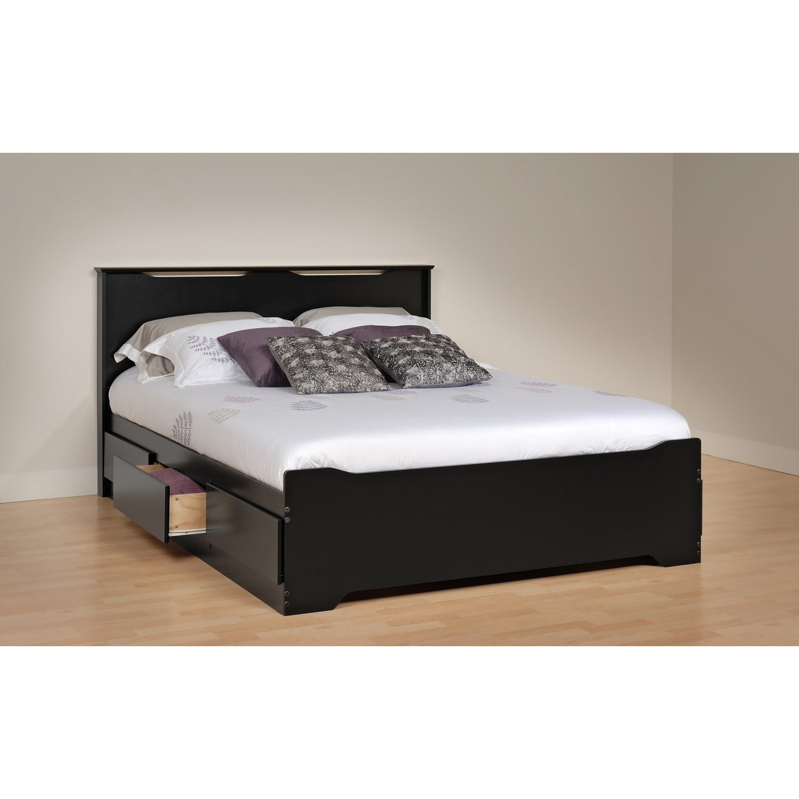 Prepac Coal Harbor Full/Queen Flat Panel Headboard - Black