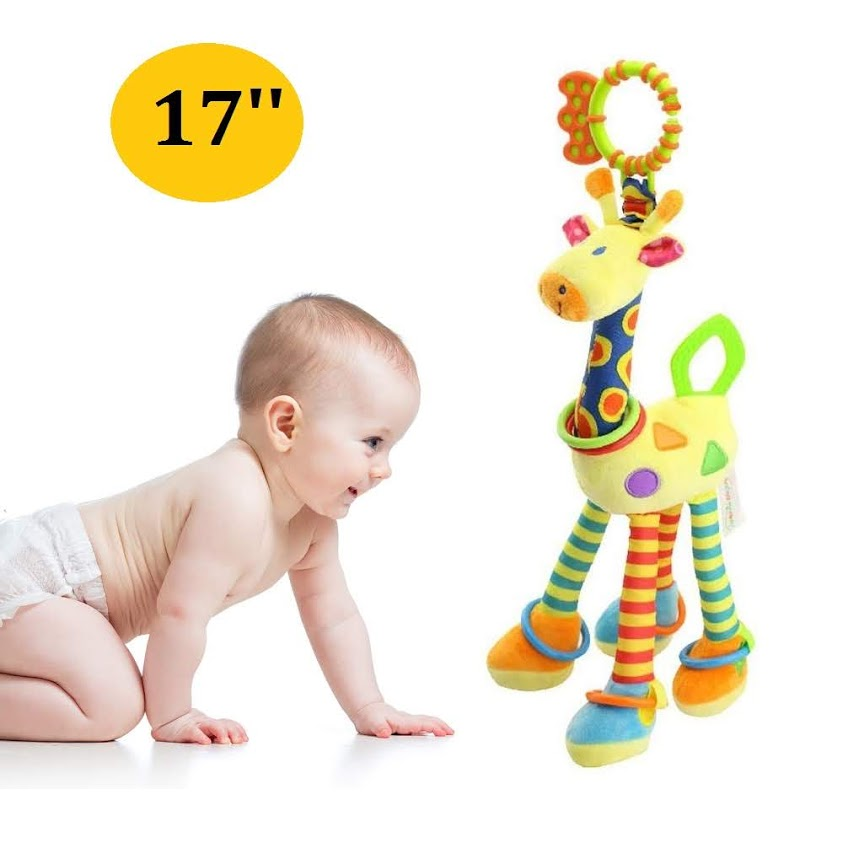 Soft Giraffe Rattle Teether Baby Musical Toys Suitable For Newborn